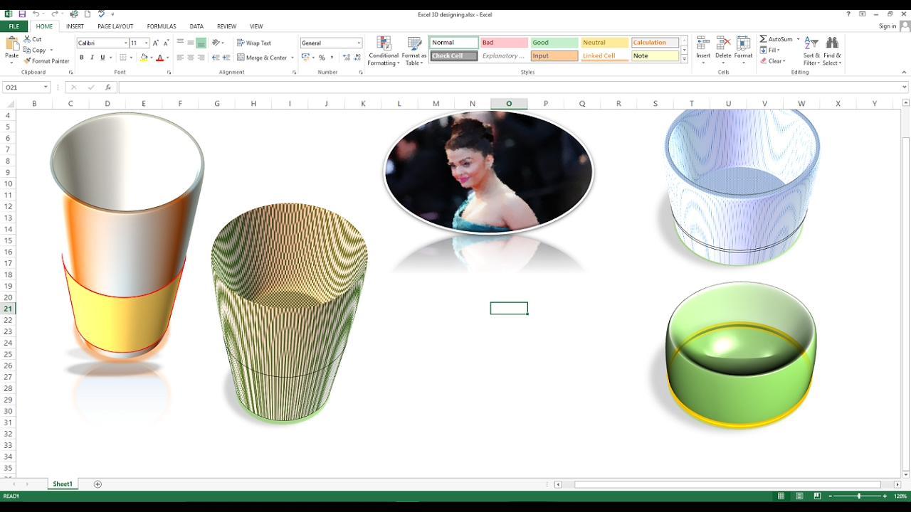 How To Create 3d Design In Excel Worksheet How To Make 3d