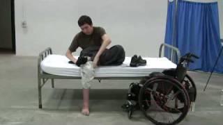 Quadriplegics: bed mobility and dressing