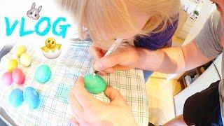 Familien Alltag | Ostern | Eier bemalen | Geschenke | 35 SSW | Isabeau