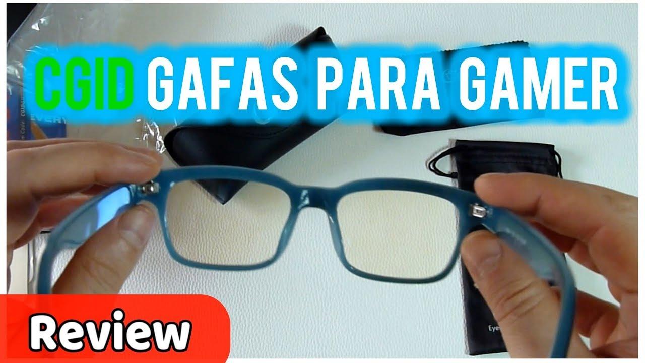 55ba3d7aa4 CGID Gafas para Protección contra Luz Azul CT84 para Ordenador Gaming  |UnBoxing Review en Español