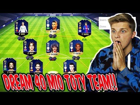 Mein Dream 40.000.000 COINS TOTY Fut Champions TEAM!! 🤑🔥 Fifa 18 Ultimate Team Deutsch