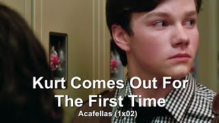 GLEE- Kurt Comes Out To Mercedes | Acafellas [Subtitled] HD