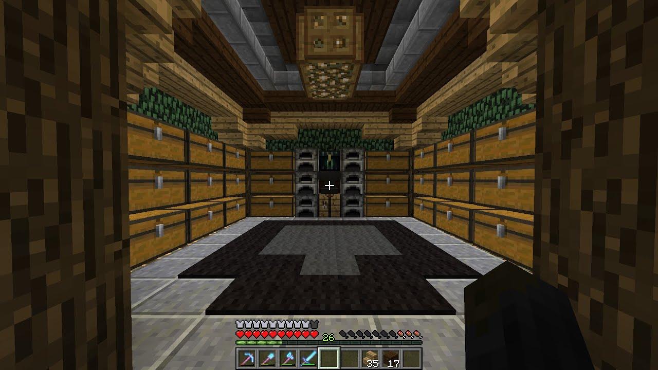 Qc minecraft s1 pisode 8 salle des coffres slime for Comcoffre de salle de bain