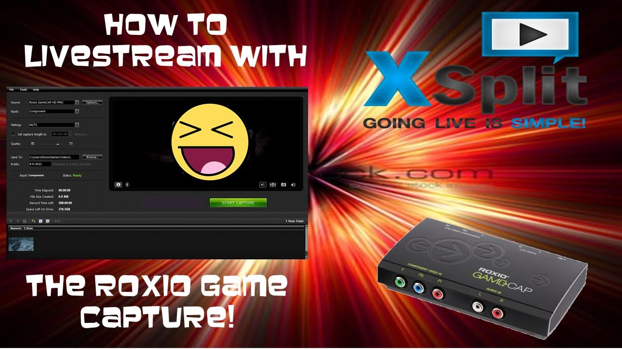 how to live stream with xsplit broadcaster