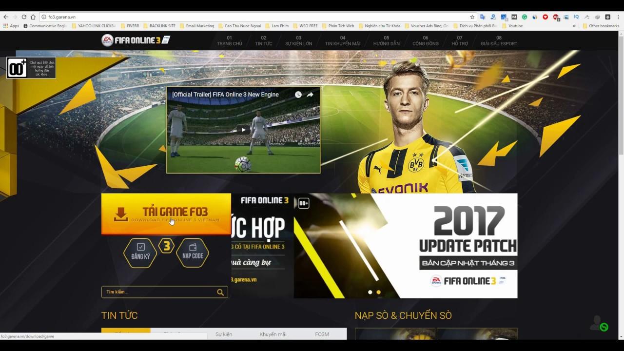 Fifa Online 3 - Hướng dẫn cài đặt Game Fifa Online 2017 Việt Nam mới nhất