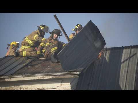 Fire in Dekalb Junction, New York