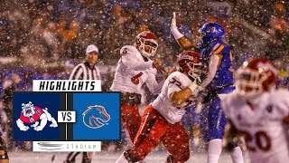 No. 25 Fresno State vs. No. 22 Boise State Football Highlights (2018) | Stadium
