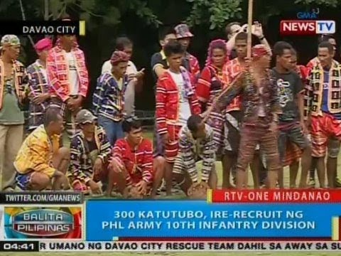 BP: 300 katutubo, ire-recruit ng PHL Army 10th Infantry Division