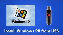 Install Windows 98 from USB Flash Drive with Easy2Boot