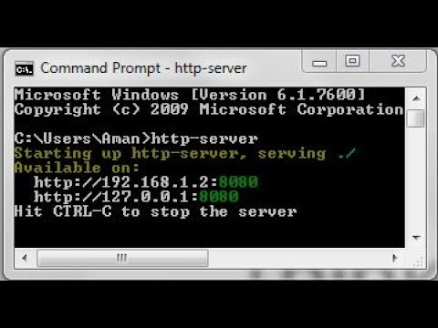 Install HTTP-Server using cmd | localhost:8080 - YouTube