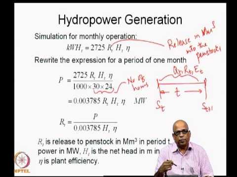 Mod-05 Lec-26 Hydropower generation