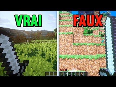 VRAI MINECRAFT VS FAUX MINECRAFT !
