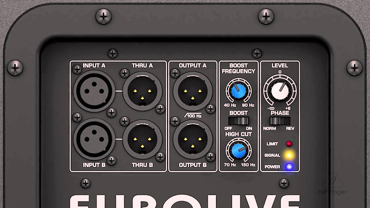 B1200D PRO Active 500 Watt 12' PA Subwoofer - YouTube