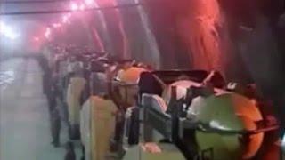 Iran: Rare images of underground missile bunker