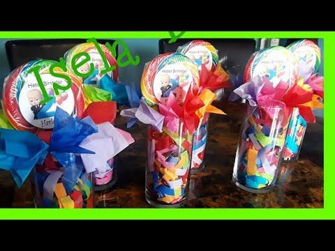 DIY Lollipop centerpieces easy to make