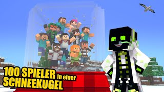 Ich habe 100 SPIELER in einer SCHNEEKUGEL EINGESPERRT - Minecraft Server 1.15