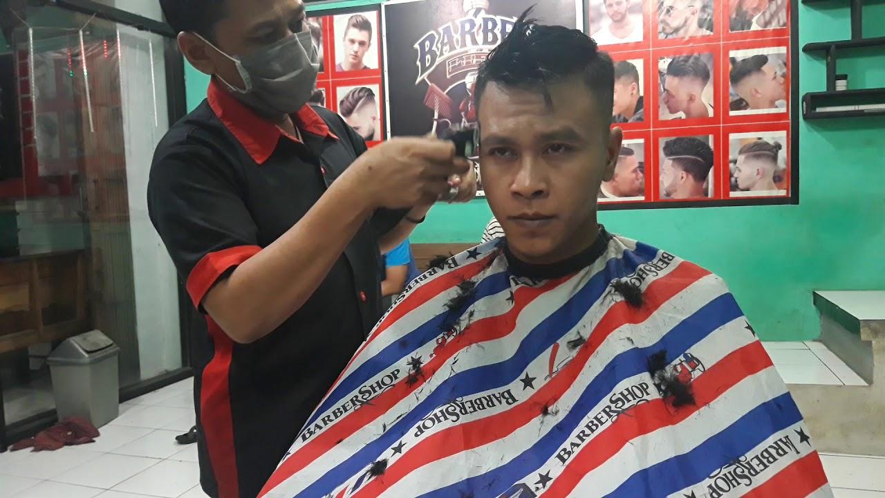 Cukur rambut model#Agung barber - YouTube
