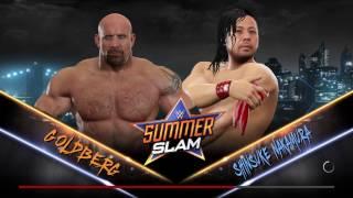 WWE 2K17 Goldberg VS Shinsuke Nakamura Single Match