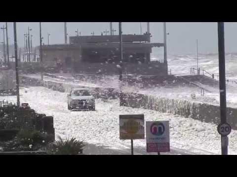 Crazy weather on the Fylde Coast, Lancashire