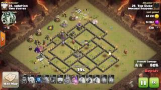 Witch slap, GoBitch V.2, Clash of clans attack vs. Time Vortex