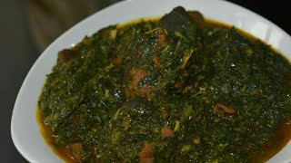 How to make Afang soup. Perfect Afang soup (Calabar style). Nigerian food.