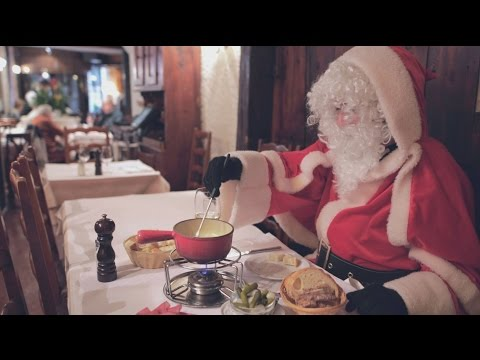 Santa bouncing in Geneva