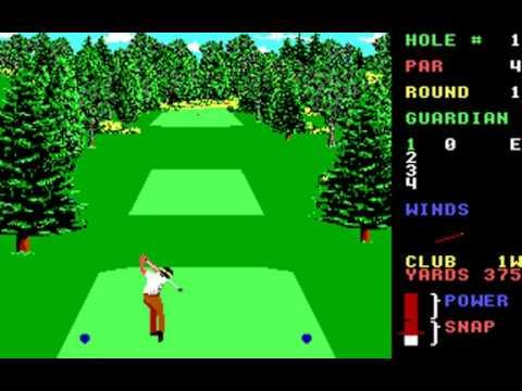 World Class Leader Board (Course J: Pebble Beach) (Access) (MS-DOS) [1989] [PC Longplay]