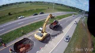 Aerial video of a sinkhole in Clarksville TN. Shot with a GoPro from a hexacopter