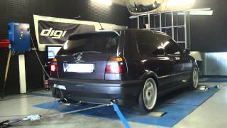 VW Golf VR6 174cv @ 191cv reprogrammation moteur dyno digiservices