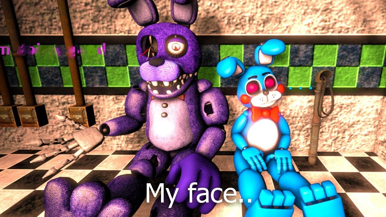 Five Nights At Freddy's Bonnie Animated fnaf sfm: how bonnie lost his face #1-2 (five nights at freddy's animation)
