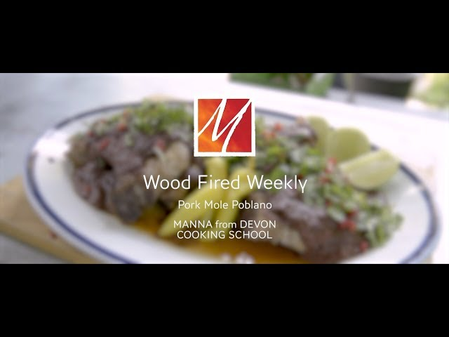 Manna from Devon's Woodfired Pork Chops with Mole Poblanao Sauce