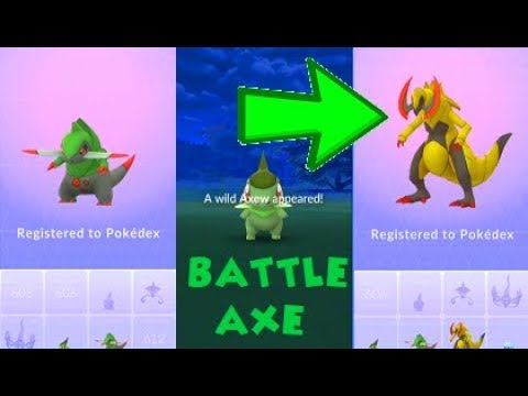 Pokemon Go Axew Catch & Fraxure-Haxorus Evolutions