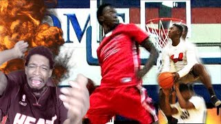 BEST HIGH SCHOOL DUNKER OF ALL TIME! 6'2 KWE PARKER CANT BE HUMAN! MIXTAPE REACTION