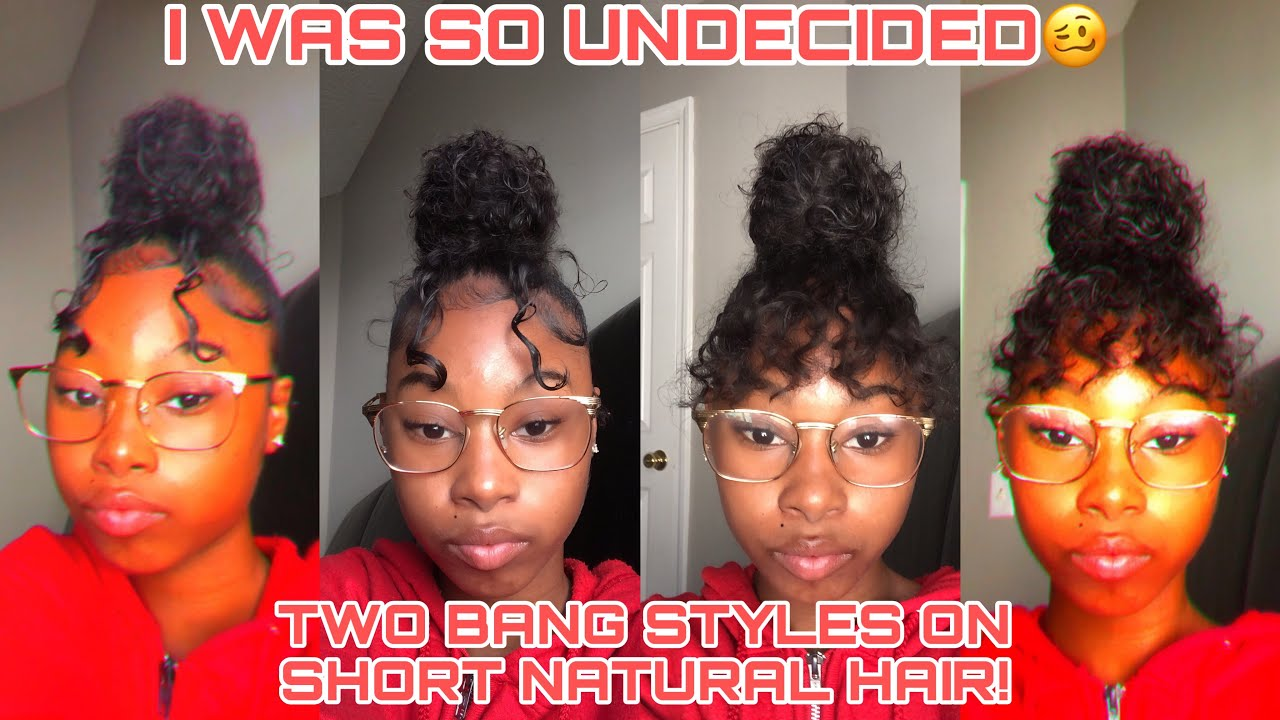 CURLY BUN WITH BANGS!   BACK TO SCHOOL HAIR STYLES(kind of a tutorial)!! ft. The Roots Naturelle