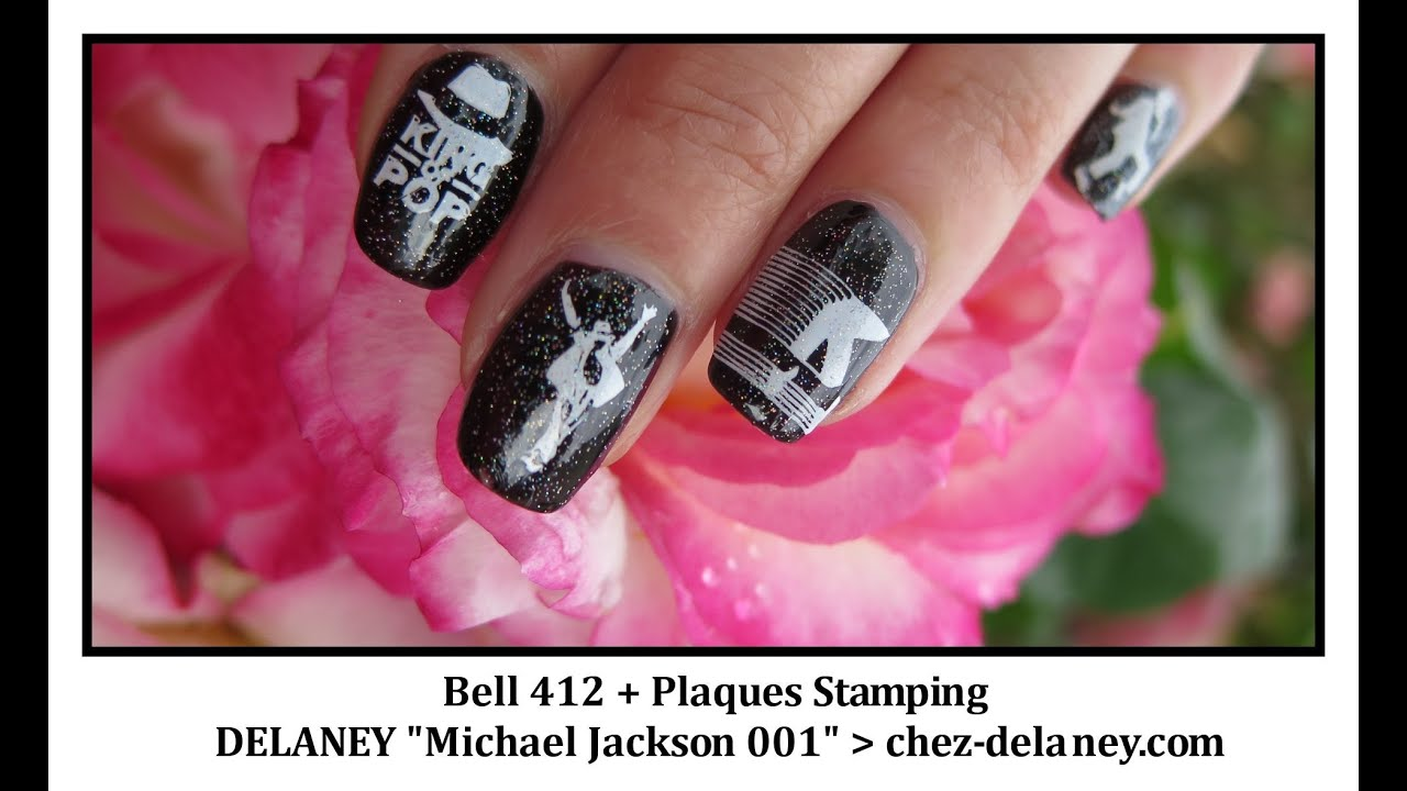 Nail Art Michael Jackson Plaque stamping DELANEY - YouTube