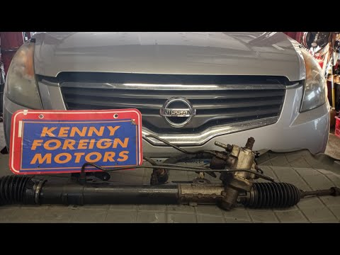 2008 Nissan Altima steering rack pinion replacement Diy