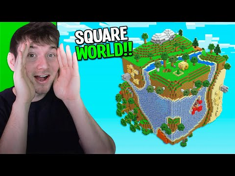 i played on a tiny planet world... (Minecraft Planet Survival #1)