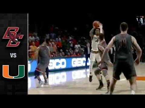 Boston College vs. Miami Basketball Highlights (2017-18)