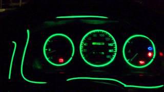 Неоновая нить в машину(Подсветка дверей, центральной панели, приборной панели., 2014-01-04T16:25:19.000Z)