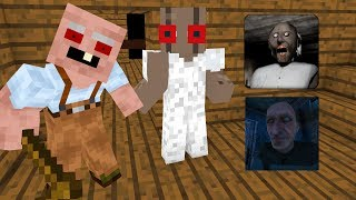 Monster School GRANNY VS GRANDPA HORROR GAME CHALLENGE Minecraft Animation