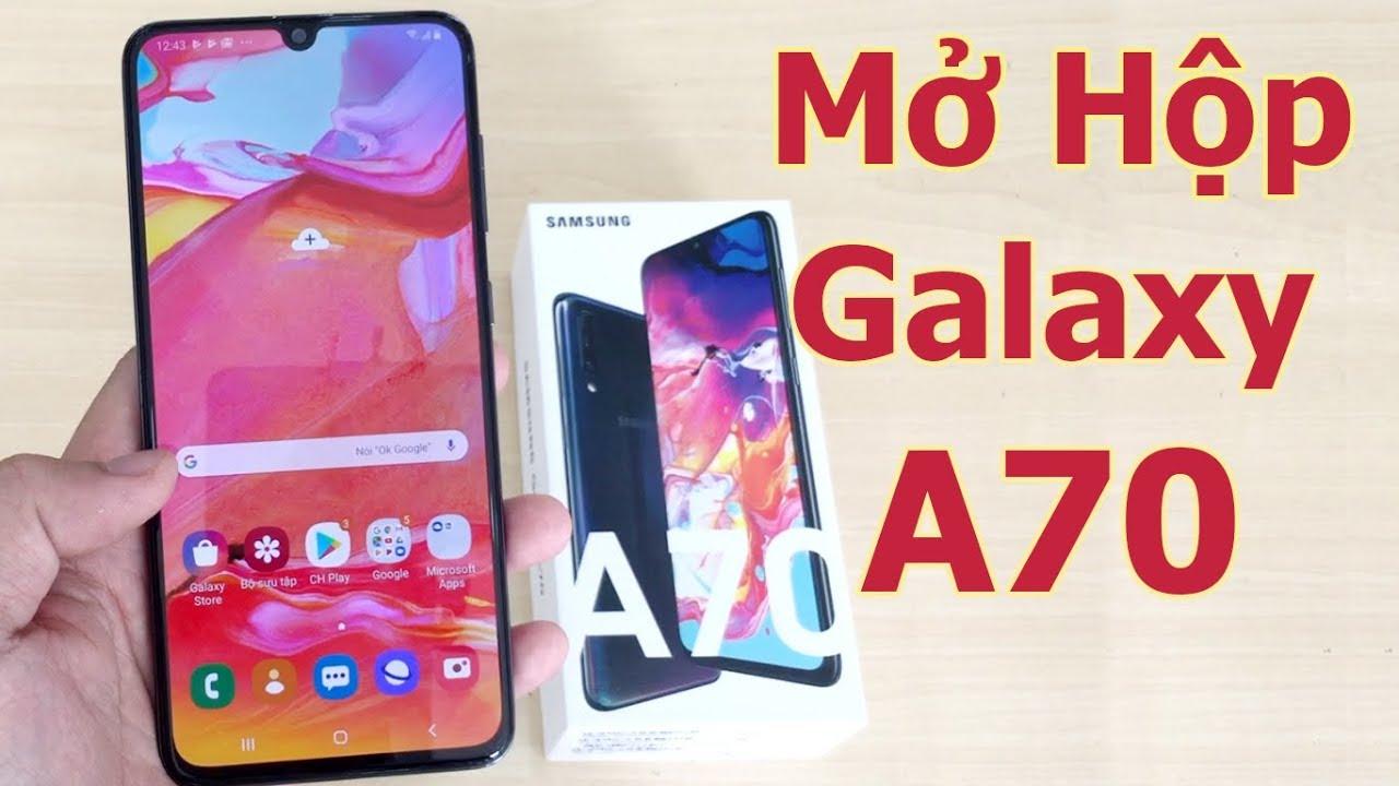 Mở Hộp Đánh Giá Nhanh Galaxy A70 Chính Hãng – Sam Sung A70 Unboxing