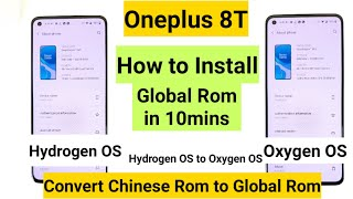Oneplus 8t how to install global Rom and oxygen os