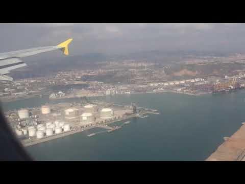 Landing at Barcelona El Prat Airport, Catalonia, Spain - 17th October, 2017