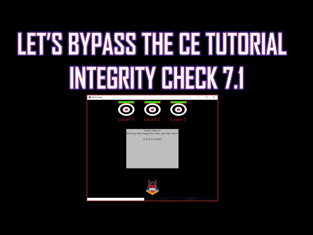 Bypass CE Tutorial Games Integrity Check 7.1