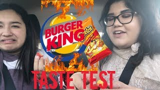 BURGER KING TASTE TEST: Flamin' Hot Mac n' Cheetos
