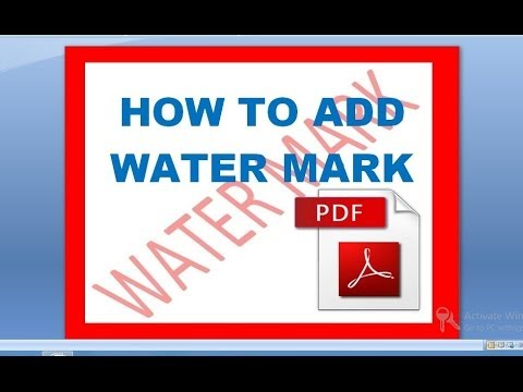 Add watermarks to PDFs