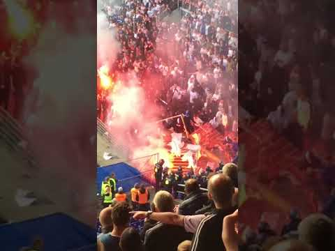 Brøndby - Copenhagen, match is postponed due to riots