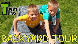 Backyard Tour & Crazy Fun Twin Playtime