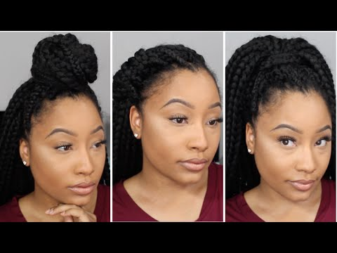 Hairstyles For Crochet Box Braids Jaz Jackson - YouTube