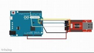 20. Jak do Arduino Leonardo podłączyć moduł Ethernet ENC28J60?